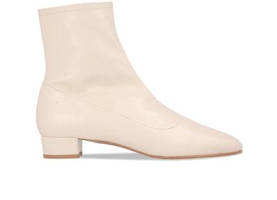 Este White Leather Boot