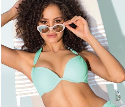 Smart+Sexy Mega Push-Up Halter Bikini Top