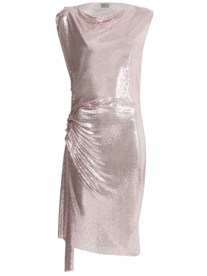 Ruched Chain-Link Dress