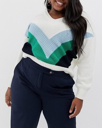 Vero Moda Chevron Color Block Sweater