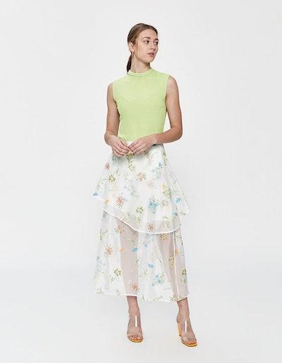 Lara Embroidered Floral Skirt