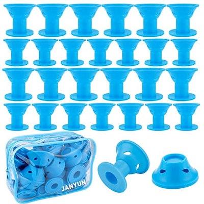 Janyun Blue Magic Hair Rollers