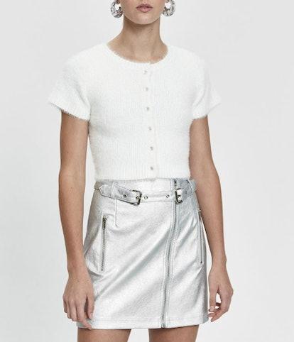 Analiese Short Sleeve Fuzzy Cardigan