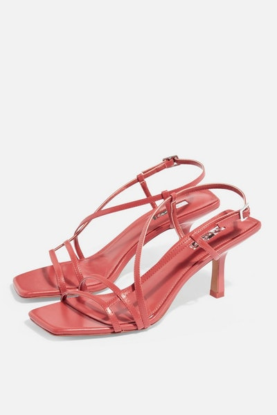 Strippy Heeled Sandals