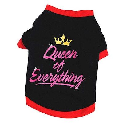 Queen Pet Puppy Vest Shirt