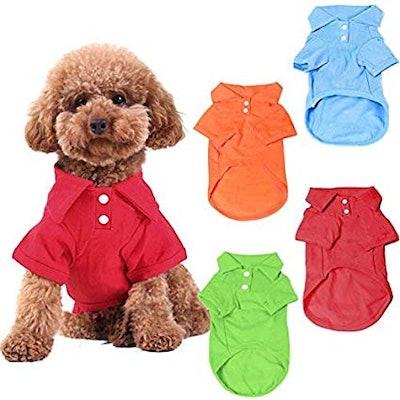 4-Pack Dog Shirts