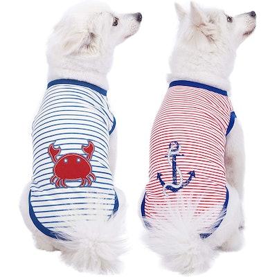 Sea Lover Cotton Blend Dog T-Shirts