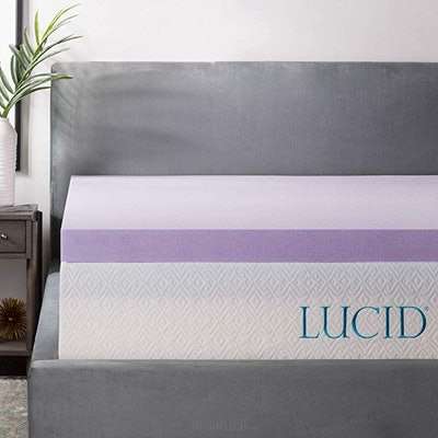 "LUCID Lavender Infused 3"" Memory Foam Mattress Topper"
