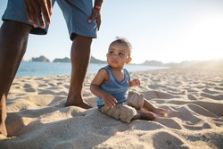 Babies eating sand isn't exactly safe, experts say.