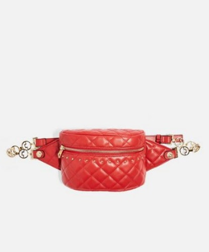 BRITT Red Quilted Bumbag