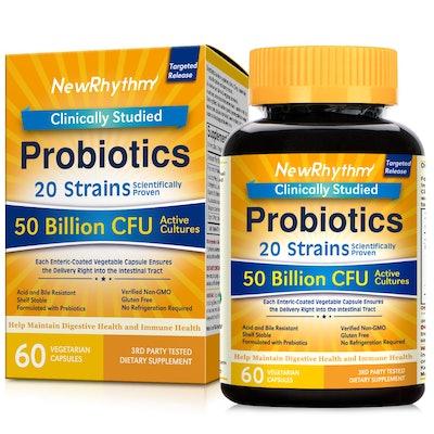 NewRhythm Probiotics, 60 Veggie Capsules