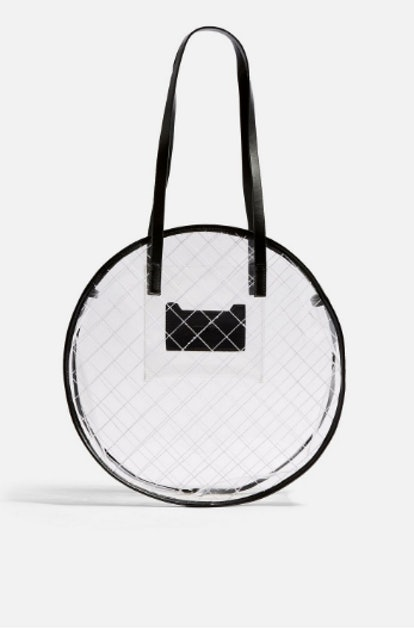 Round Clear Tote Bag