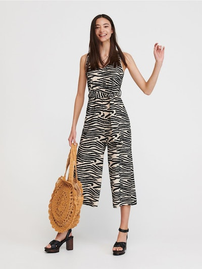 Jumpsuit With Structural Print