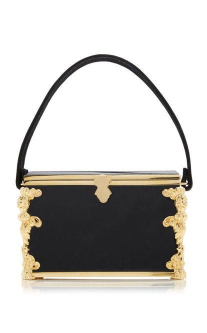 Bogart Leather And Lucite Top Handle Bag