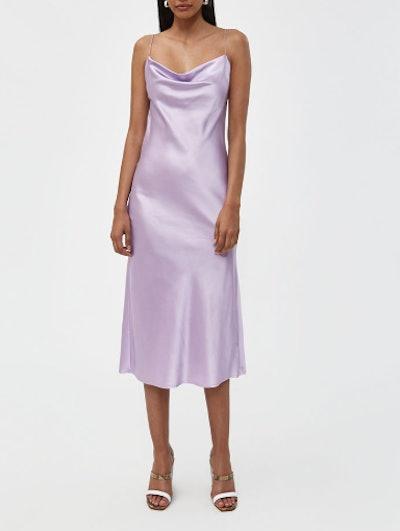 Della Slip Dress in Lilac