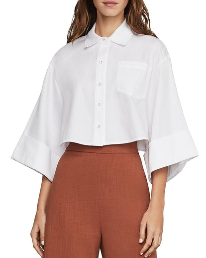 Boxy Cropped Shirt