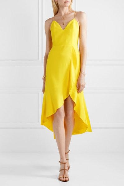 Cobi Wrap-Effect Crepe Midi Dress