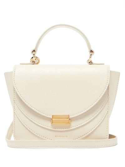 Luna Mini Layered-Flap Leather Shoulder Bag