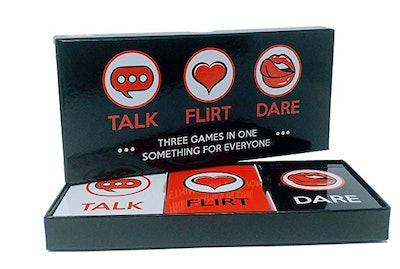 Talk, Flirt, Or Dare Date Night Card Game