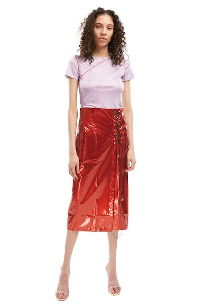Lace-up Wrap Skirt