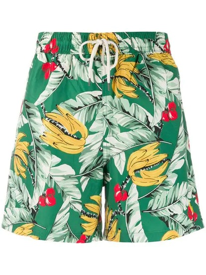 Traveler Leaf Print Swim Shorts