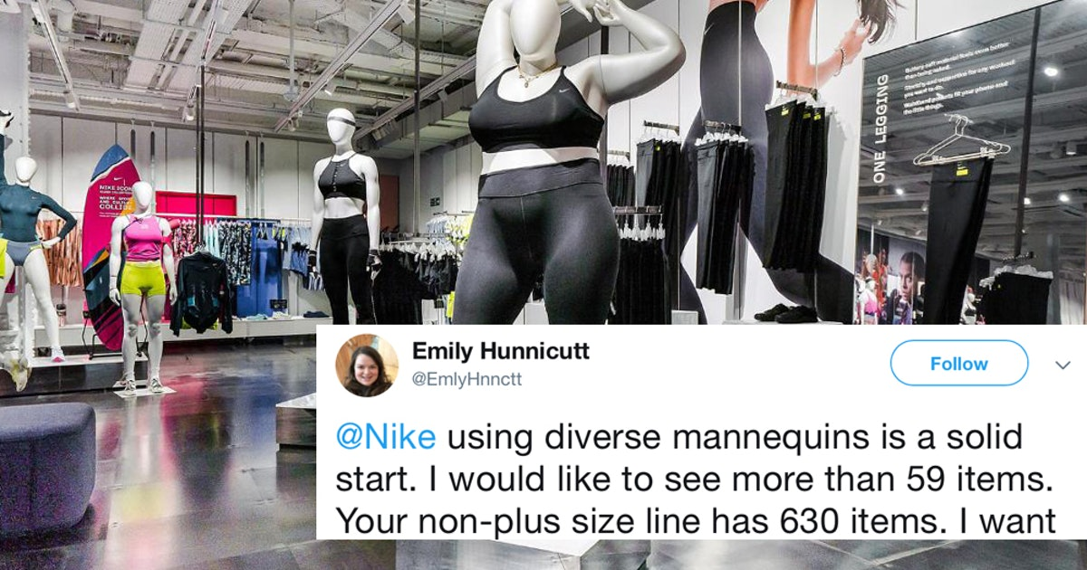 These Tweets About Nike S New Plus Size Mannequins Should