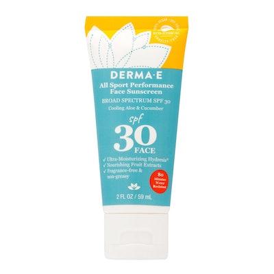 Water Resistant Sport Face Sunscreen SPF 30