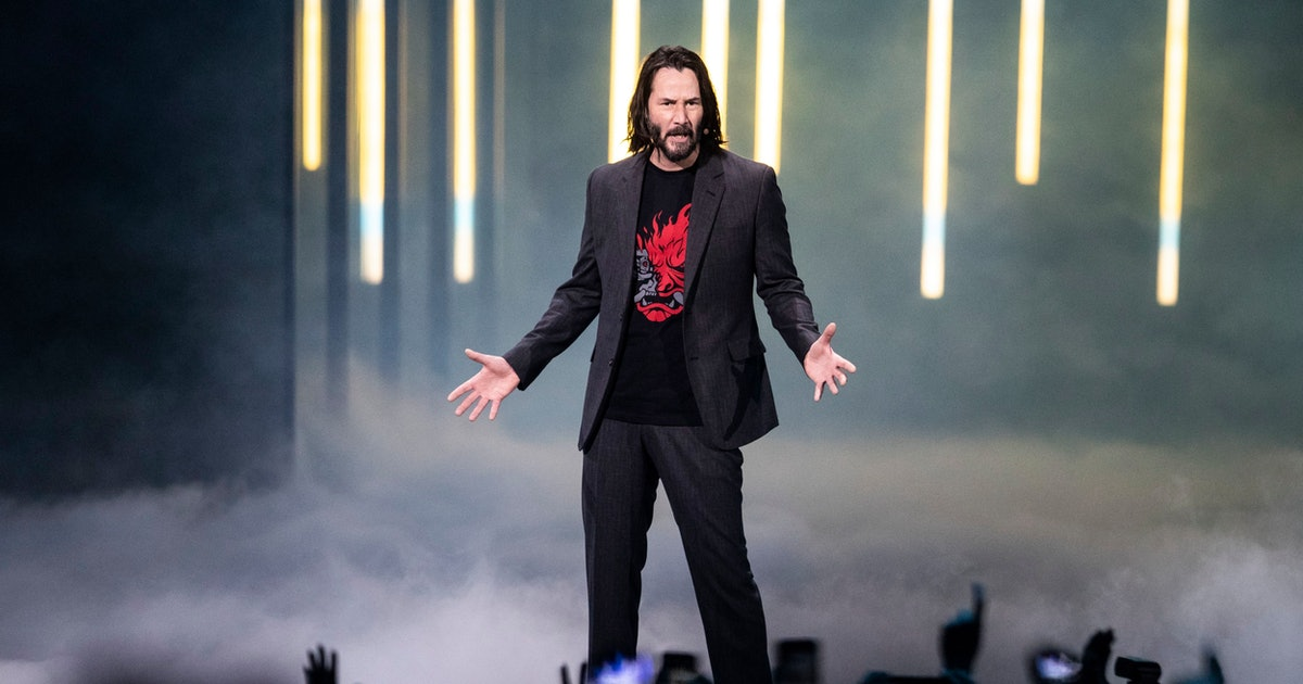 Keanu Reeves confirms 'Cyberpunk 2077' role in a surprise E3 appearance