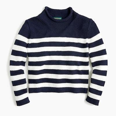 Women's 1988 Rollneck™ Cropped Sweater In Stripe