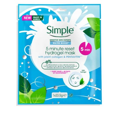 Simple Water Boost 5-Minute Reset Hydrogel Mask