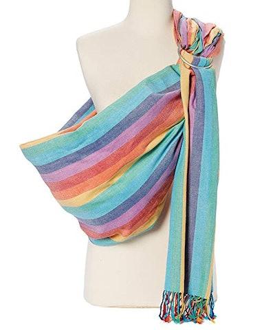 Hip Baby Wrap in Summer Rainbow