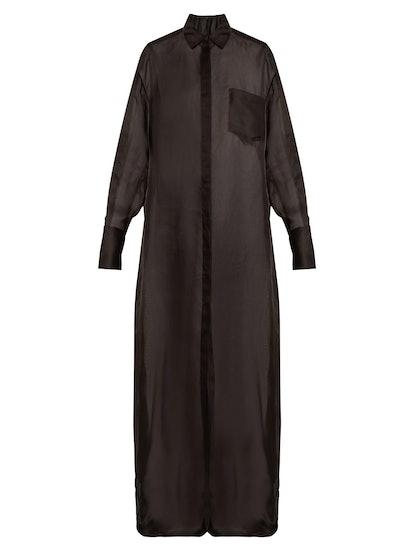 Siena Silk-Organza Shirt Dress