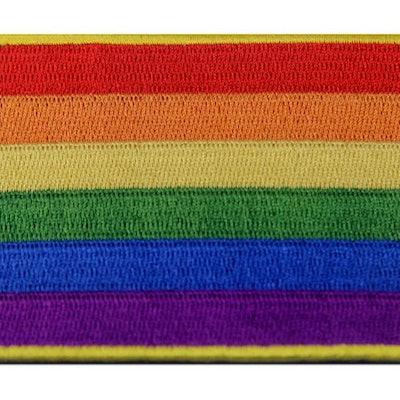 LGBT Rainbow Flag Embroidered Emblem