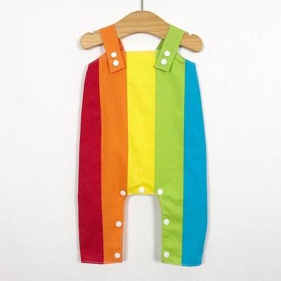 Baby Rainbow Dungarees