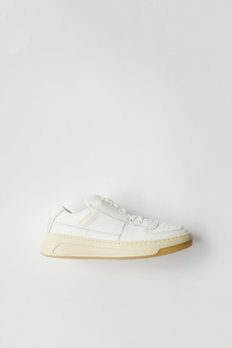 Steffey Lace-Up Leather Sneakers