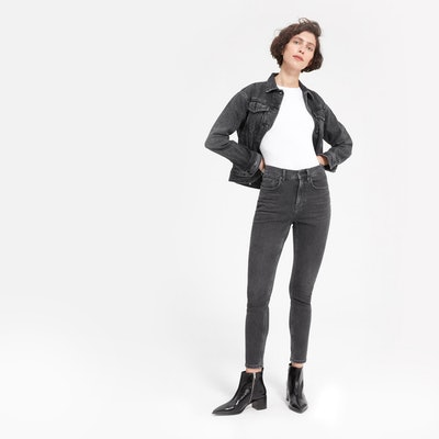 The High-Rise Skinny Jean in Washed Black