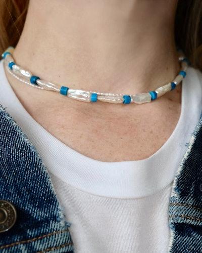 Turquoise Pearl Collar
