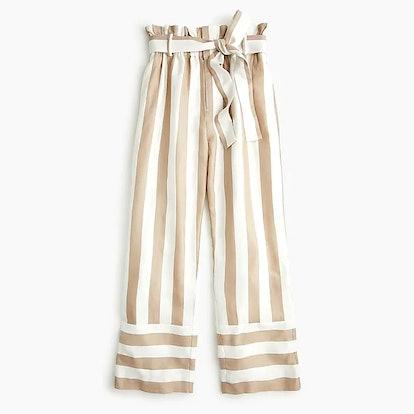 Point Sur Paperbag Pant In Khaki Stripe