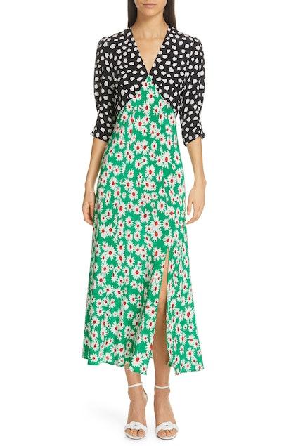 Marha Mixed Print Dress