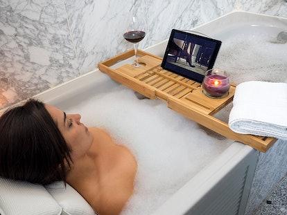 Bamboo Extending Bath Tray