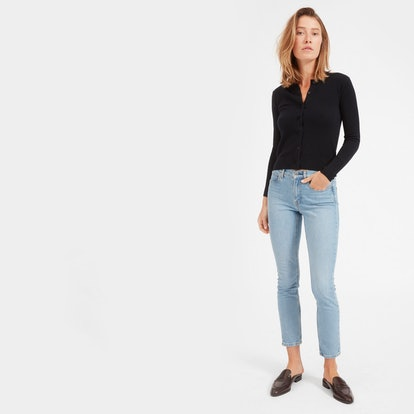 The Mid-Rise Skinny Jean in Light Blue Wash