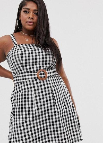 ASOS Curve Square Neck Linen Dress