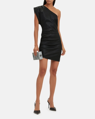 Iro Apria One-Shoulder Leather Dress