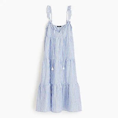 Ruffle Tiered Maxi Dress In Sofia Stripe