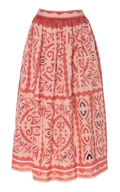 Yahiara Cotton Midi Skirt
