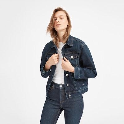 The Denim Jacket in Vintage Dark Blue Wash