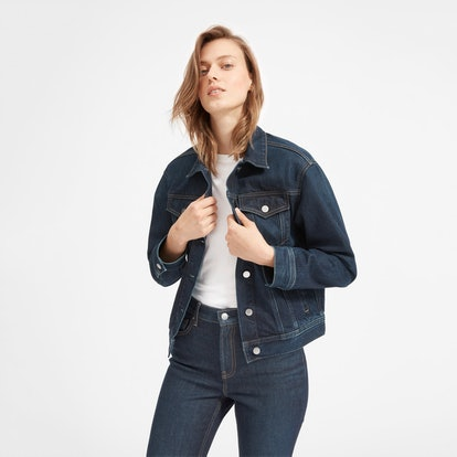 The Denim Jacket in Vintage Dark Blue Wash