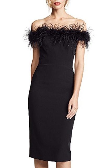 Feather Bodice Dress
