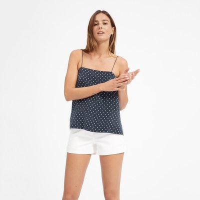 The Polka Dot Cami in Navy and White Dot