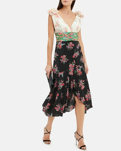 Lolly Mixed Floral Midi Dress